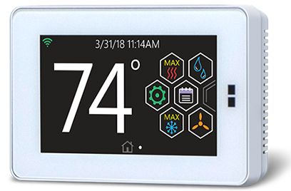 HX touch screen thermostat